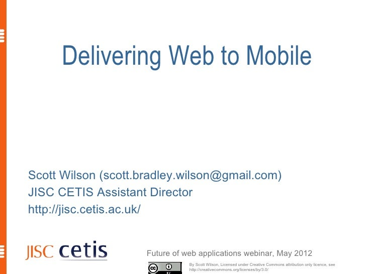 Delivering Web To Mobile