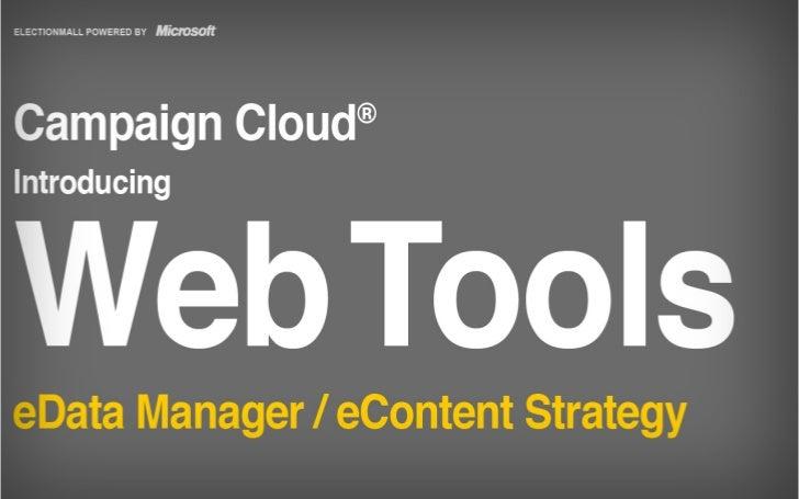Web Tools 2.0