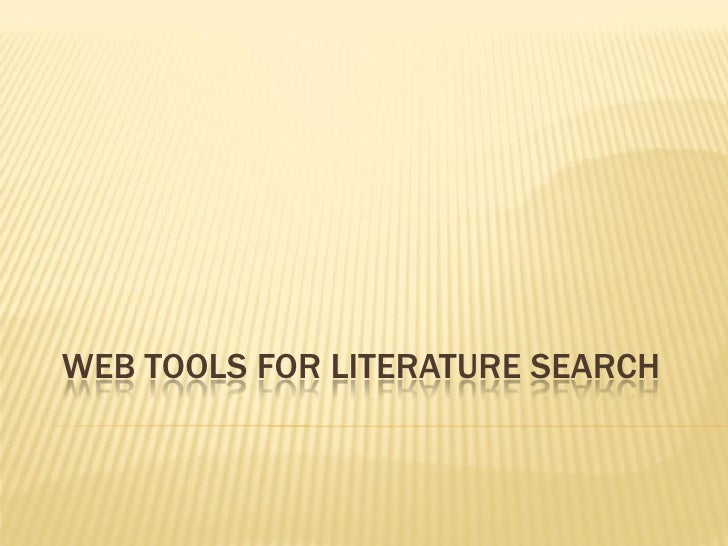 Webtools For Reference Search