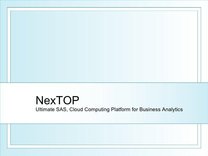 Nextop Cloud computing Platform