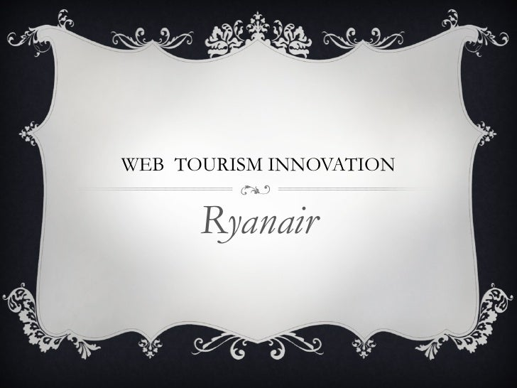 WEB  TOURISM INNOVATION Ryanair