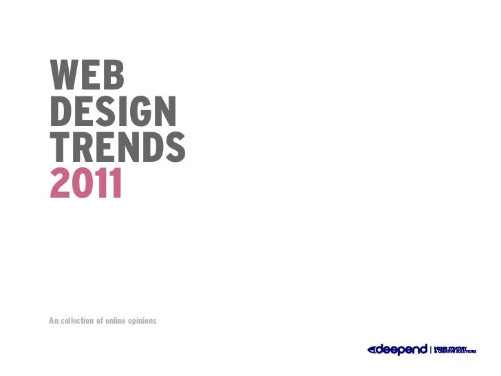 Web Design Trends 2011
