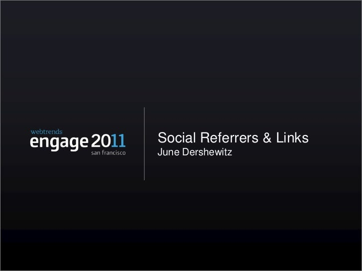 Social Referrers and Links