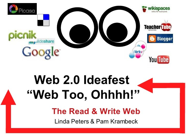 """Web 2.0 Ideafest  """"Web Too, Ohhhh!"""" The Read & Write Web Linda Peters & Pam Krambeck"""