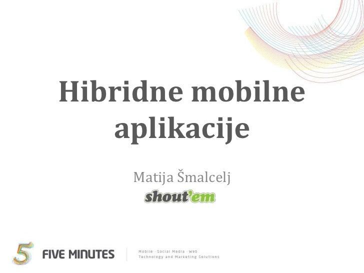 WebUG - Hibridne mobilne aplikacije
