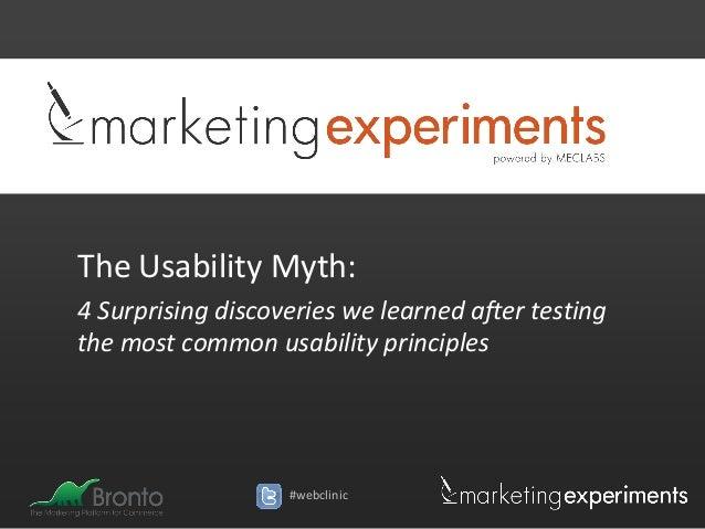 The Usability Myth