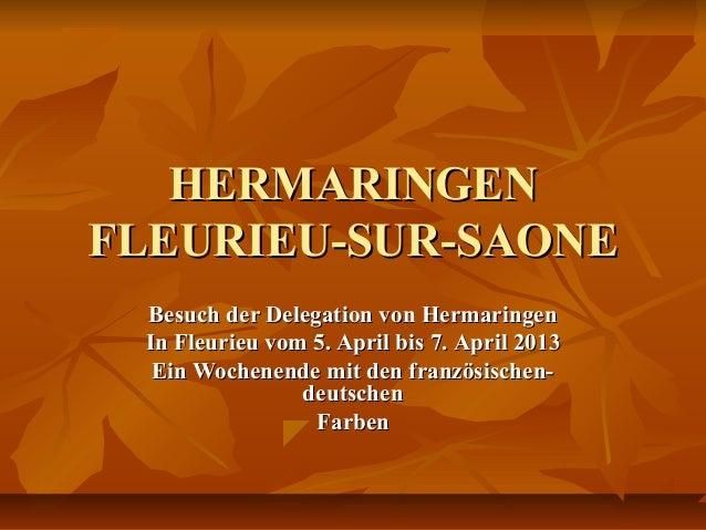 HERMARINGENHERMARINGENFLEURIEU-SUR-SAONEFLEURIEU-SUR-SAONEBesuch der Delegation von HermaringenBesuch der Delegation von H...
