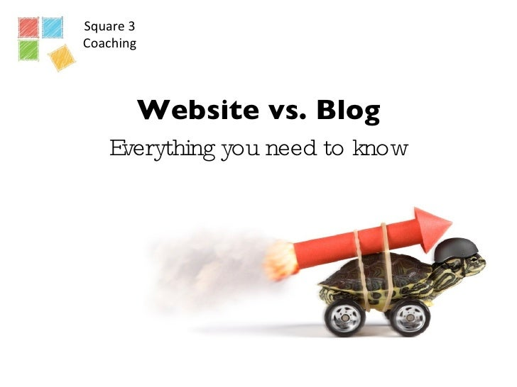Square 3 Coaching Website vs. Blog Everything you need to know Jennifer Voss & Nona Jordan  Square 3 Coaches