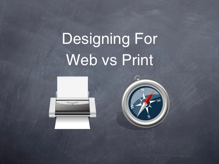 Designing ForWeb vs Print