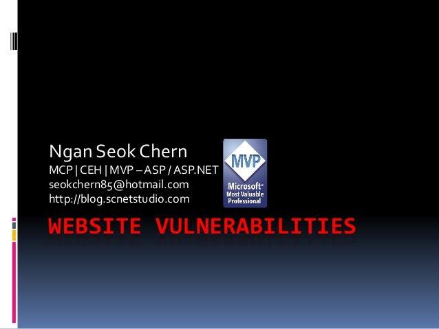 Web Vulnerabilities_NGAN Seok Chern