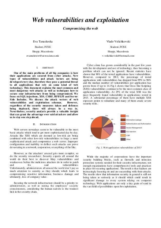 Web vulnerabilities and exploitation Compromising the web Eva Tanaskoska Student, FCSE Skopje, Macedonia evamolotow@zerosc...