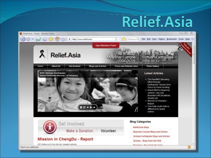 Relief.Asia - Online Platform for Charities