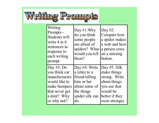 Writing                 Day #1:Why        Day #2:Prompts -                 do you think      Compare howStudents will     ...