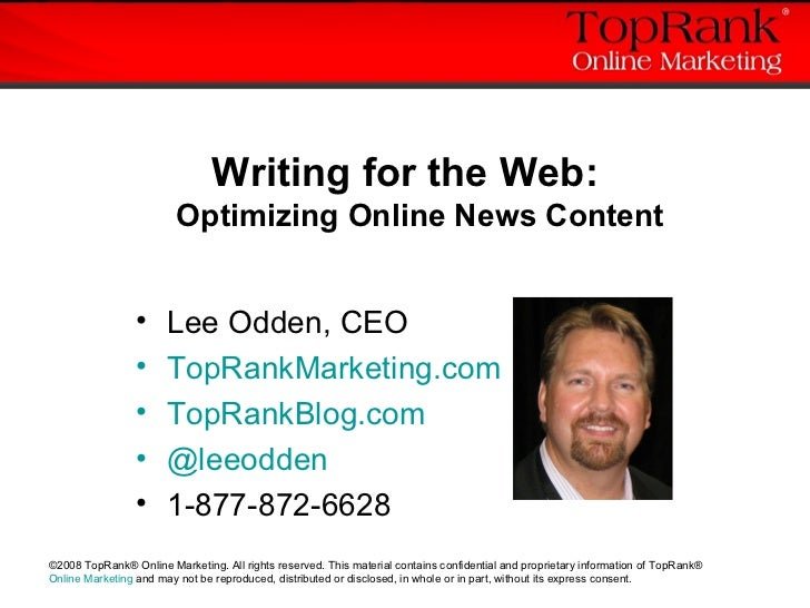 Writing for the Web: SEO for News Content