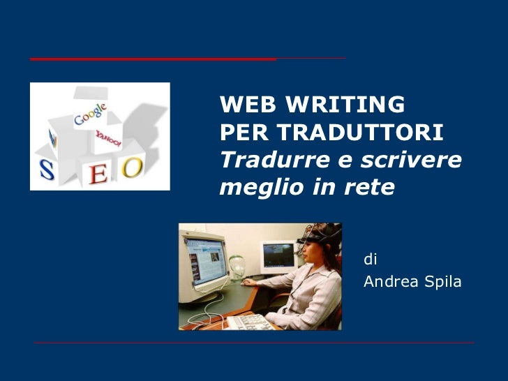 Web writing per traduttori