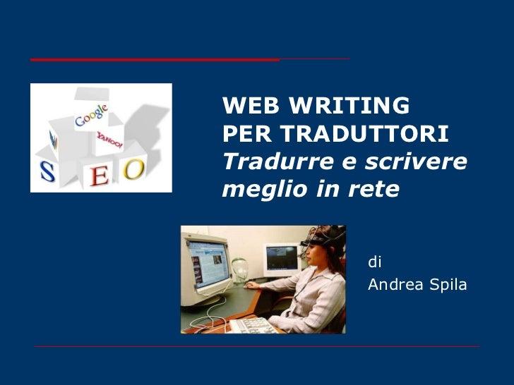 Web writing per traduttori
