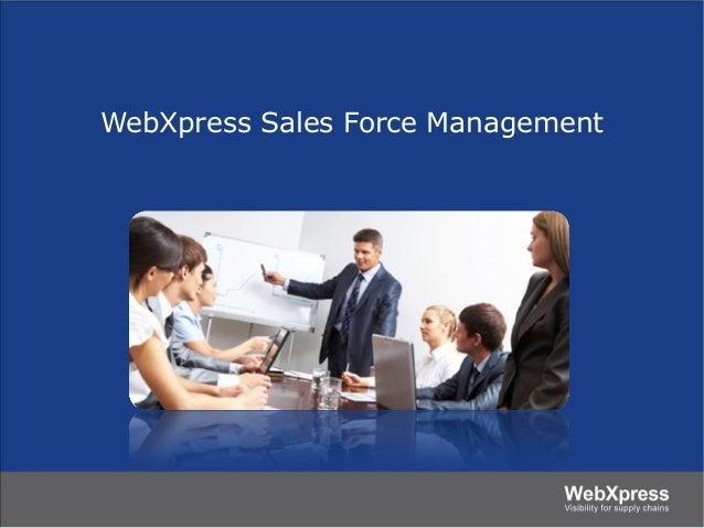 WebXpress Sales Force Management