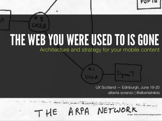 The web you were used to is gone. Architecture and strategy for your content.