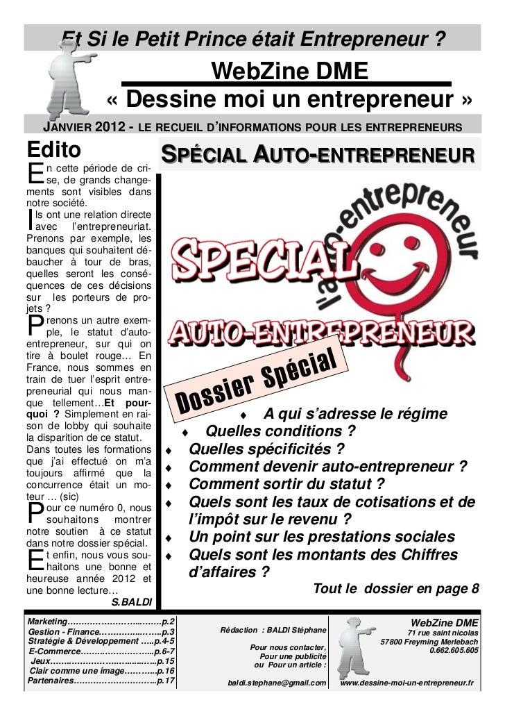 Et Si le Petit Prince était Entrepreneur ?                           WebZine DME                  « Dessine moi un entrepr...