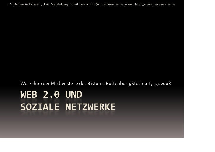 Web 2.0-Workshop Stuttgart