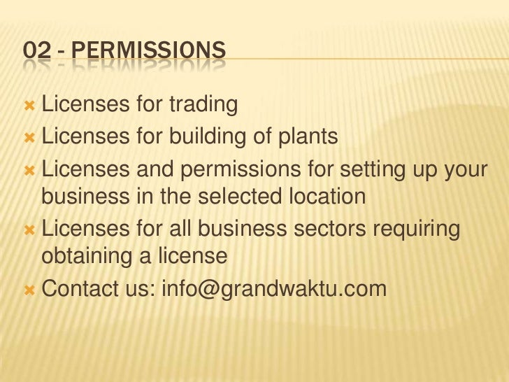Trade License Malaysia For Trading Licenses For