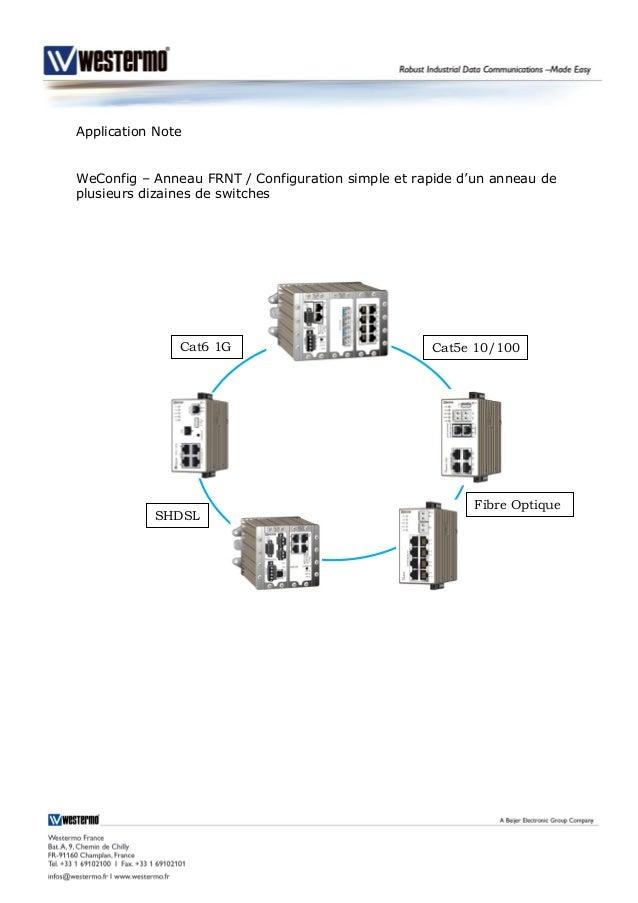 Application Note WeConfig – Anneau FRNT / Configuration simple et rapide d'un anneau de plusieurs dizaines de switches SHD...