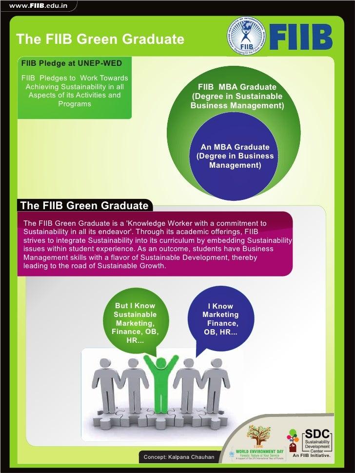 www.FIIB.edu.in The FIIB Green Graduate   FIIB Pledge at UNEP-WED   FIIB Pledges to Work Towards    Achieving Sustainabili...