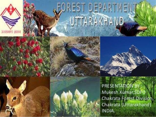 sS PRESENTATION BY : Mukesh Kumar,SDFO Chakrata Forest Division, Chakrata (Uttarakhand) INDIA.