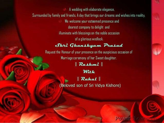 Rashmi Wedding invitation
