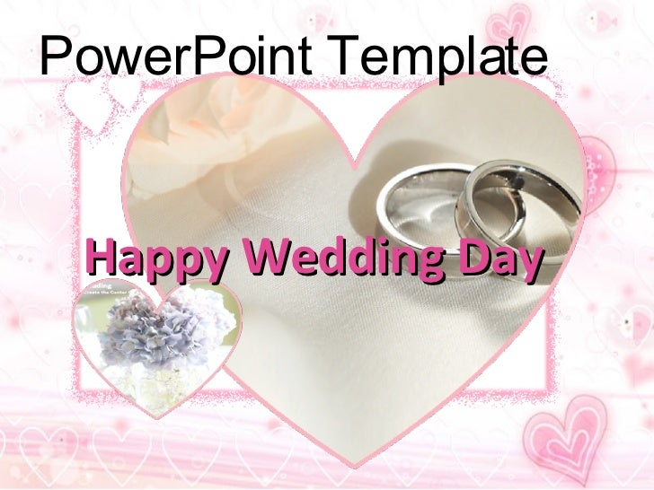 Happy Wedding Day   PowerPoint Template