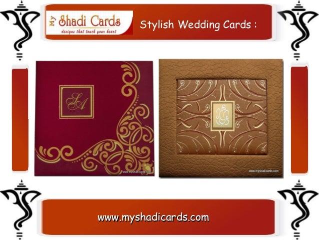 Stylish Indian Wedding Cards Stylish Wedding Cards
