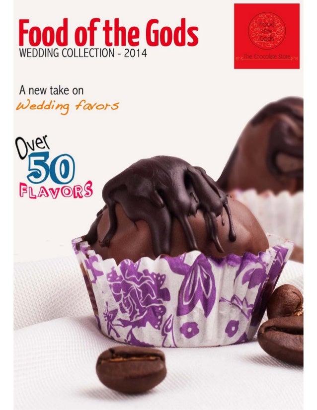 Food of the Gods Wedding Chocolate Catalogue 2014