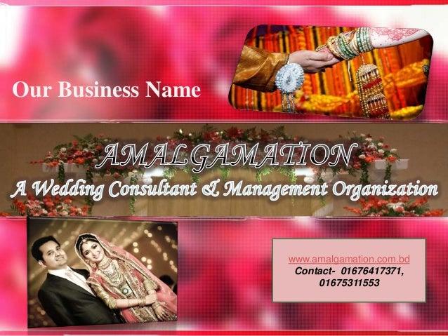 Wedding planning business in bangladesh