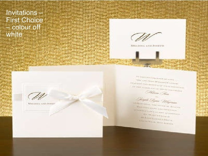 Invitations – First Choice – colour off white