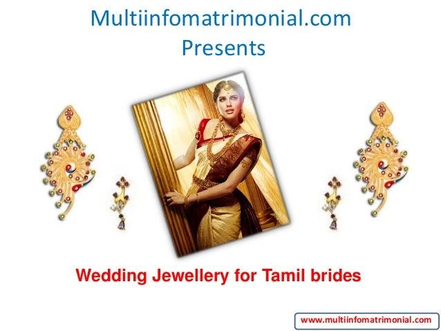 Multiinfomatrimonial.com Presents Wedding Jewellery for Tamil brides www.multiinfomatrimonial.com