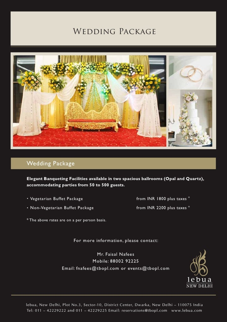Wedding PackageWedding PackageElegant Banqueting Facilities available in two spacious ballrooms (Opal and Quartz),accommod...