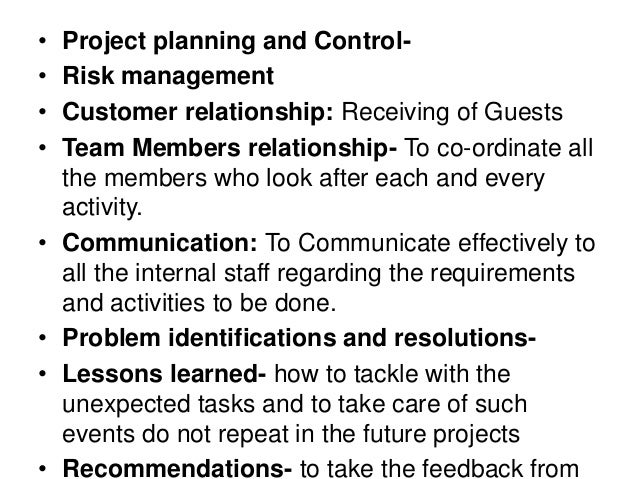risk management plan for wedding Project management: planning a wedding and resources1 i am getting married in june of 2013 and i have 12 months to plan and execute a wedding for 75 guests.