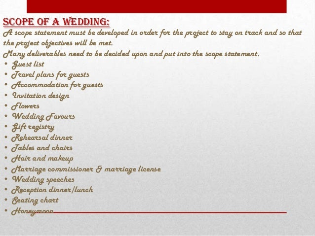 Wedding Project Management