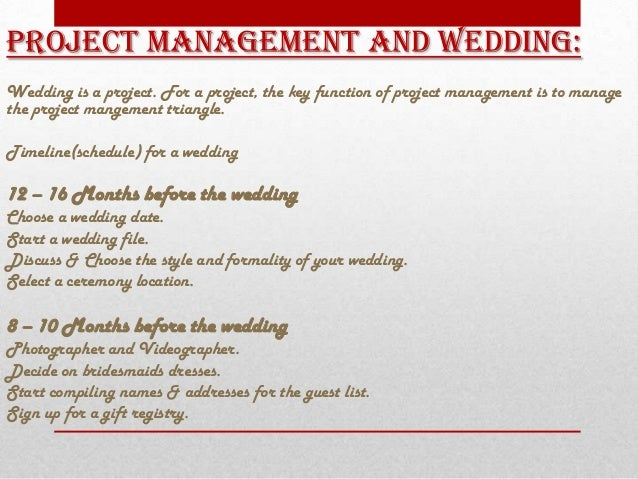project management the wedding Online document catalogs wedding case analysis project management wedding case analysis project management - in this site is.