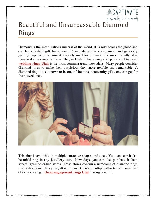 57 Wedding Rings In Utah