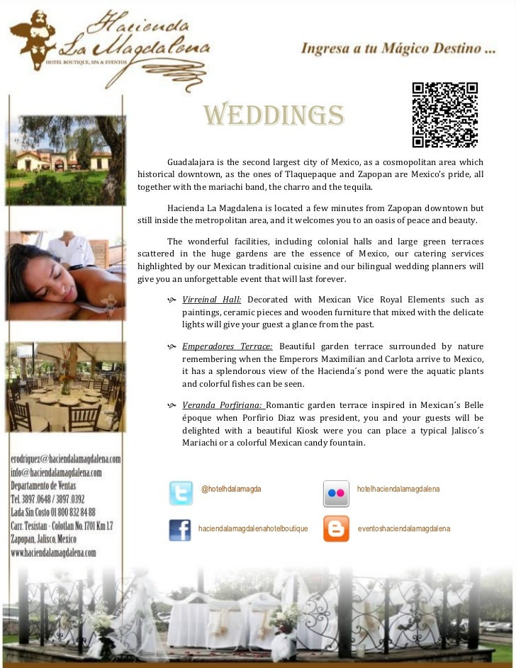 weddings        Guadalajara is the second largest city of Mexico, as a cosmopolitan area whichhistorical downtown, as the ...