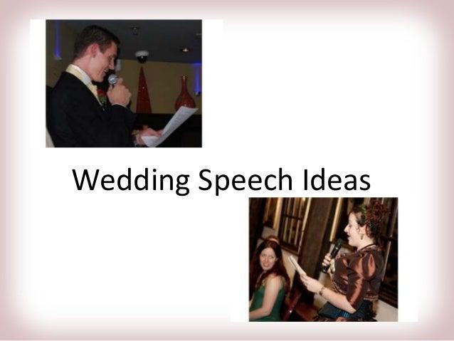 WeddingSpeech Ideas
