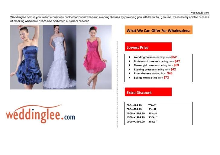 Weddlinglee Special Offer For Wholesalers