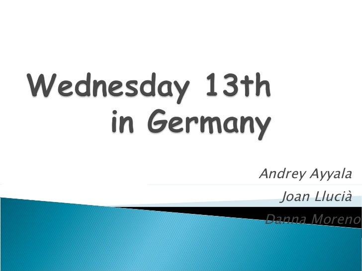 Wednesday  13th May