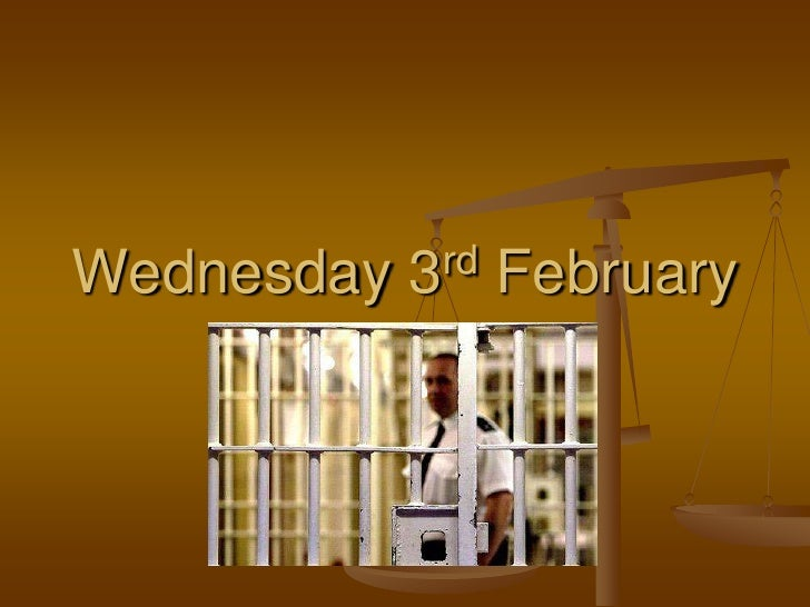 Wednesday 3rd February<br />