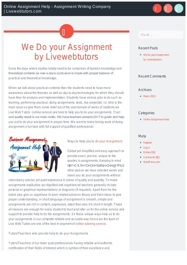 We do your assignment
