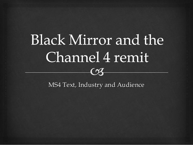 MS4 Text, Industry and Audience