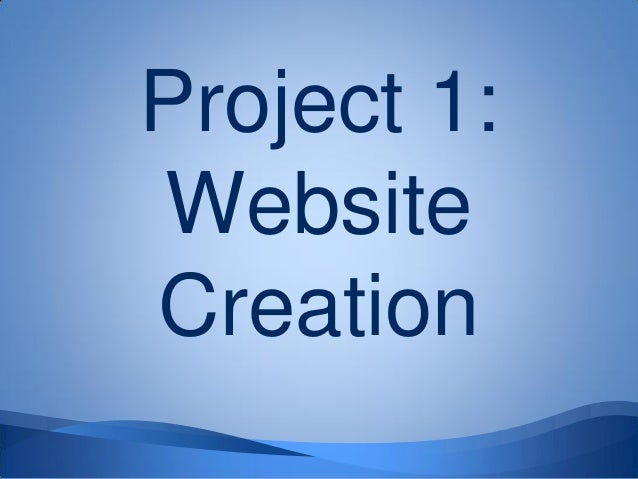 Project 1:WebsiteCreation