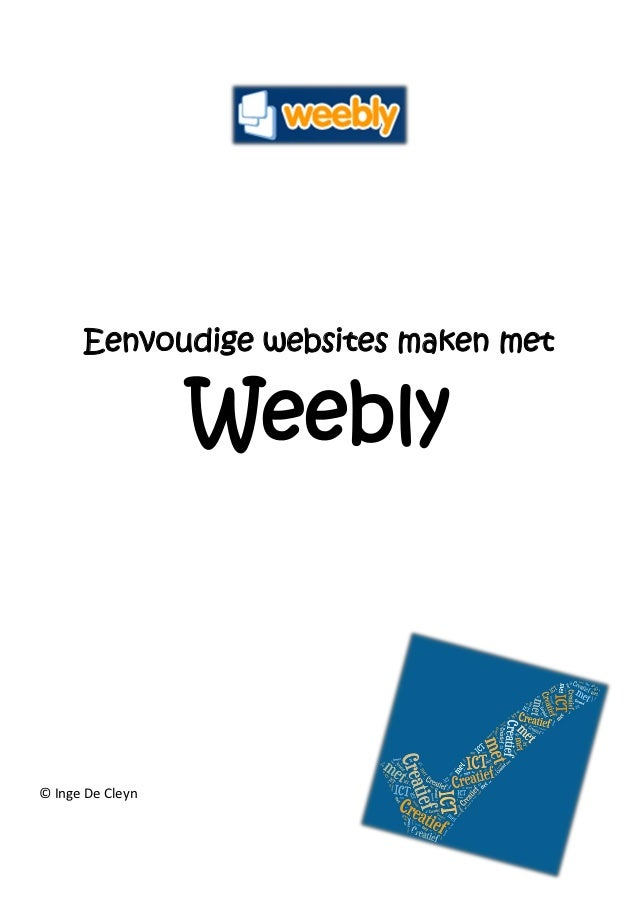 Weebly cursustekst