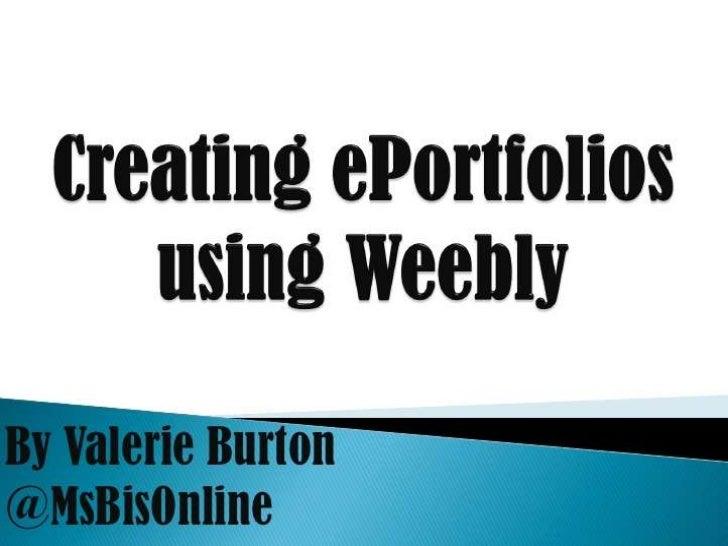 Weebly ePortfolio for DENSI 2012